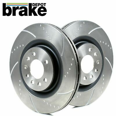 For Nissan 300ZX Skyline R33 2.5 GTS-T Rear Evora Dimpled & Grooved Brake Discs