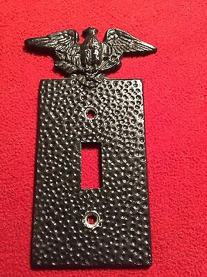 VINTAGE EAGLE SWITCH COVER CAST ALUMINUM  Americana Decor Rustic