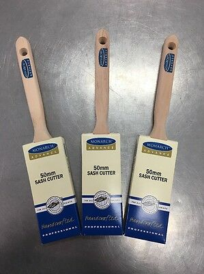 PAINT BRUSH / BRUSHES ABC MONARCH ADVANCE  3 X 50mm SASH CUTTERS