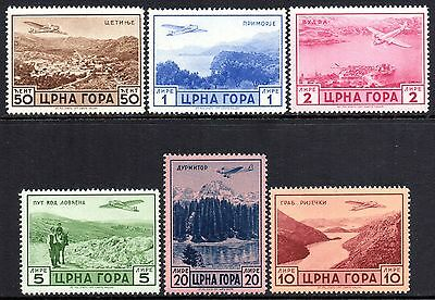 ITALY WWII Occupations MONTENEGRO 1943 Airmail Issue Fine MINT NH Set Mi.62/7