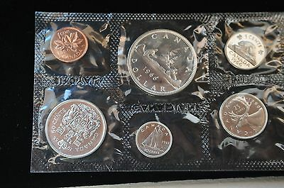 """Canada, Original 6 Coin 1966 Silver Royal Mint Proof like Set with"""" Mint Luster"""""""
