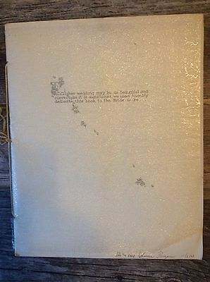 Vintage 1958 Wedding Scrapbook Photos and Cards