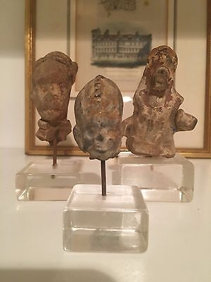 Indo Greek Terracotta Heads of a Women Ancient Art & Antiquities 200 BC - AD 400