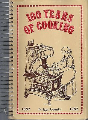 Cooperstown *binford Nd Griggs County 1982 Ethnic Scandinavian Cook Book 100 Yrs
