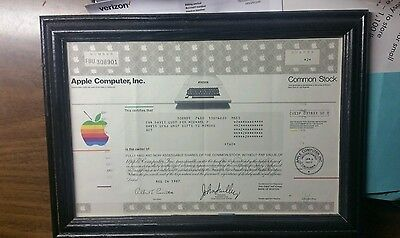 Original 1987 Apple Stock Certificate - Not A Sample!!