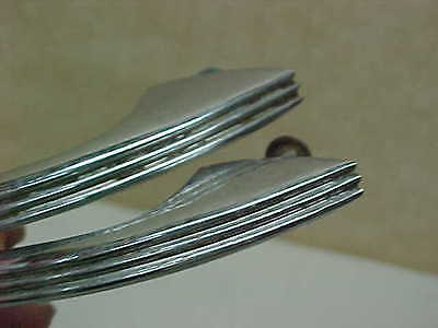 Pair Of Mid Century Modern Deco Chrome Drawer Pulls Handles