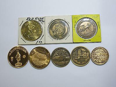 Wyoming Harrisburg Lebanon Mount Joy Red Rose West Chester+ Coin Club Medals Lot