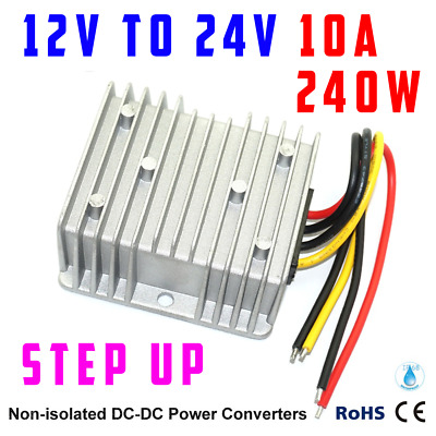 Waterproof DC/DC Converter Regulator 12V Step Up to 24V 10A 240W AU Seller