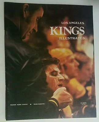 1971 Los Angeles Kings vs Boston Bruins Hockey Program NHL Gilles Marotte