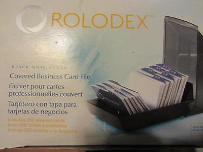 ROLODEX -  2.25 inches x 4 inches -  COVERED BUSINESS CARD FILE