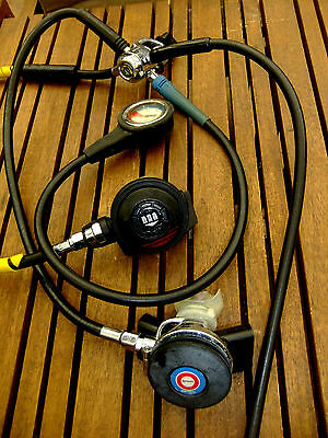 Scuba diving regulators, Mares MR12, 2nd stage, occy & Tabata spg