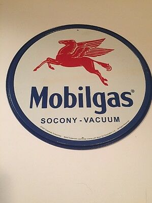"MOBIL mobilgas socony vacuum 12"" metal sign Pegasus gas and oil gasoline 610"