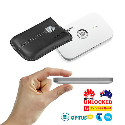 PREMIUM UNLOCKED 4G LTE Router Telstra 4GX Optus 4G+ Pocket WiFi Modem+4GB+Case