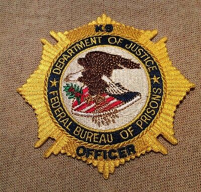 US United States Federal Bureau of Prisons K-9 Unit Patch (4In)