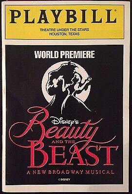 Disney's Beauty and the Beast Pre-Broadway Premiere Playbill Musical