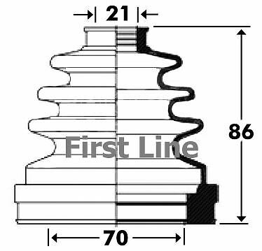 FIRSTLINE FCB2899 CV JOINT BOOT KIT fit Ford Transit Connect