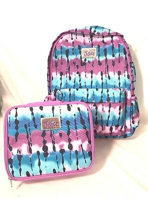 Justice Girls School Backpack Lunch Set Dye Effect Canvas Nwt