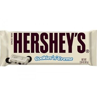Genuine Hershey's Cookies and Creme Chocolate Bars or Full Box Of Cookie n Cream