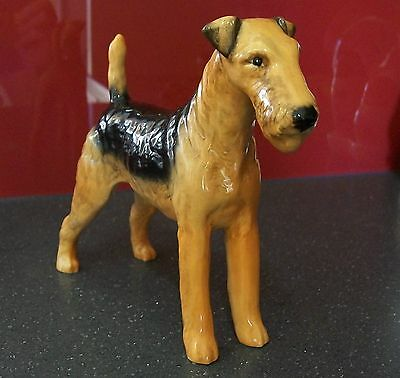 """Beswick Airedale Terrier ..... """"Cast Iron Monarch"""" model # 962 ... gloss"""