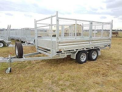 12x7 Flat Top Caged Trailer Heavy Duty 2990KG ATM Hot Dip Gal