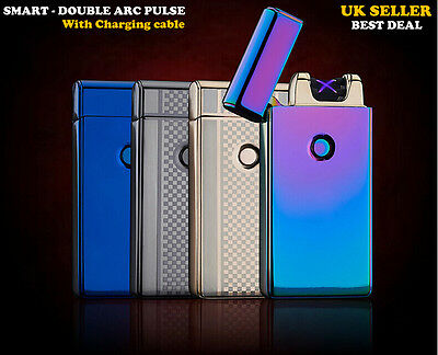 New Double Arc Plasma Usb Rechargeable Torch Metal Cigarette Lighter Cheapest