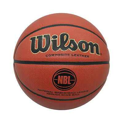 Wilson Basketball - Nbl Replica Game Composite Leather - Ball Size 6, 7