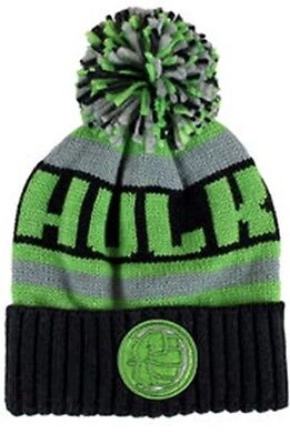Marvel Hulk Dc Kids Knitted Bobble Beanie Hat