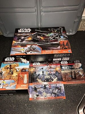 Star Wars The Force Awakens Micromachines Star Destroyer Stormtrooper Lot & More