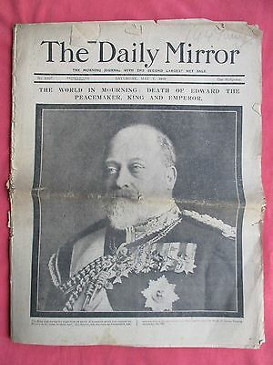 The Daily Mirror - 7th May 1910 - The Death of Edward VII