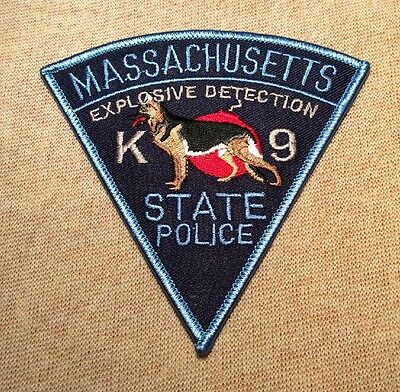 MA Massachusetts State Police K-9 Explosive Detection Patch