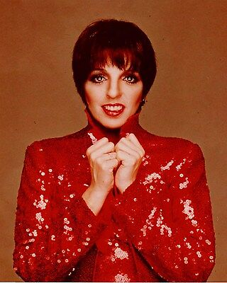 LIZA MINNELLI studio promo in RED sequin jacket Hollywood Celebrity photo (47bh)