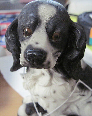ENGLISH SPRINGER DOG WITH HER PUPS  6 inches tall COLLECTIBLES