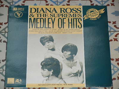 """DIANA ROSS & THE SUPREMES - Medley Of Hits FRENCH 12"""" P/S 1979 Motown"""
