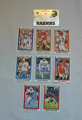 American Football 1989 Trading Cards / Stickers