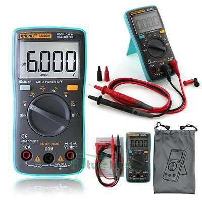 Auto-Ranging Digital Multimeter Voltmeter Ammeter Ohmmeter OHM AC DC Tester UK