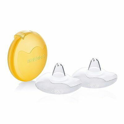 Medela 16 mm Contact Nipple Shields With Case Small SAFE Nipple Protectors NEW