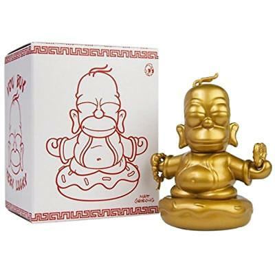 "The Simpsons Mini Homer Gold Buddha 3"" Lucky Figure Kidrobot"