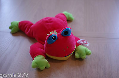 Ty Beanie - Ribbit - red Frog Pillow Pals Retired 03106