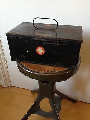 Boots Pure Drug Co Ltd Mid Century Industrial Vintage Metal First Aid Box