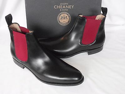 NEW Mens Joseph Cheaney Black Calf Leather Pull On Chelsea  Boots UK 9.5