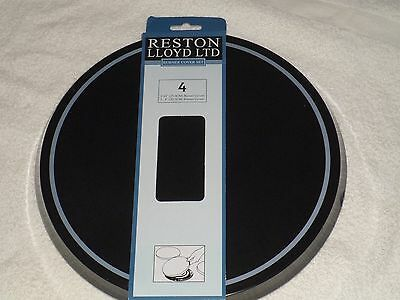 4 New BLACK WHITE CAFE ROUND STOVE Eye ELECTRIC RANGE Cook Top BURNER COVERS