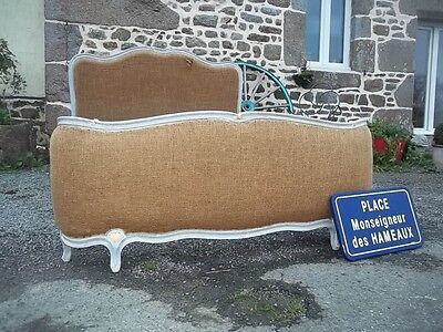 french louis xv revival double corbele bedstead for reupholstering
