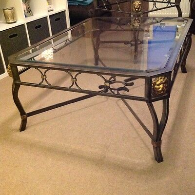 Harrods Coffee Tables Antique Looking Glass Top