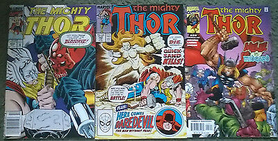 marvel comics - the mighty thor job lot (11)all mint bagged & boarded