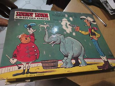 lucky luke album eo 1973 pop up western circus