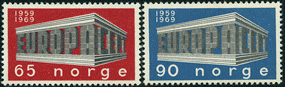 Norway 533-4 MH - Europa 1969