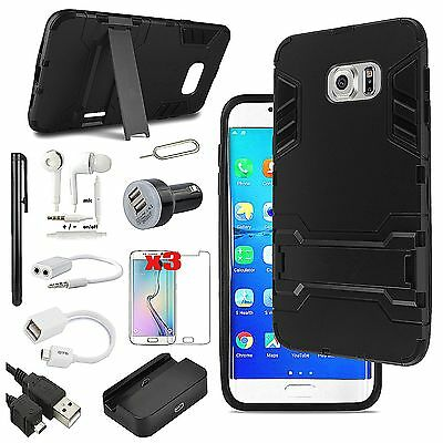 Black Kickstand Case Cover Dock Charger Accessory For Samsung Galaxy Note 5