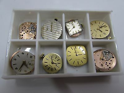 6 X Omega Ladies Watch Movements And 1X Tissot And 1X Longines Watch Movement