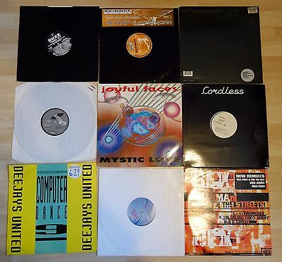 "12"" Vinyl Records Joblot 7 / Oldskool Dance / 9 X 12"""