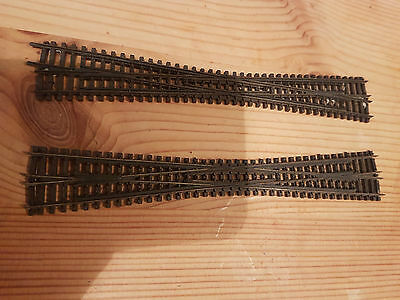 2 x Peco N Gauge train track crossover track pieces